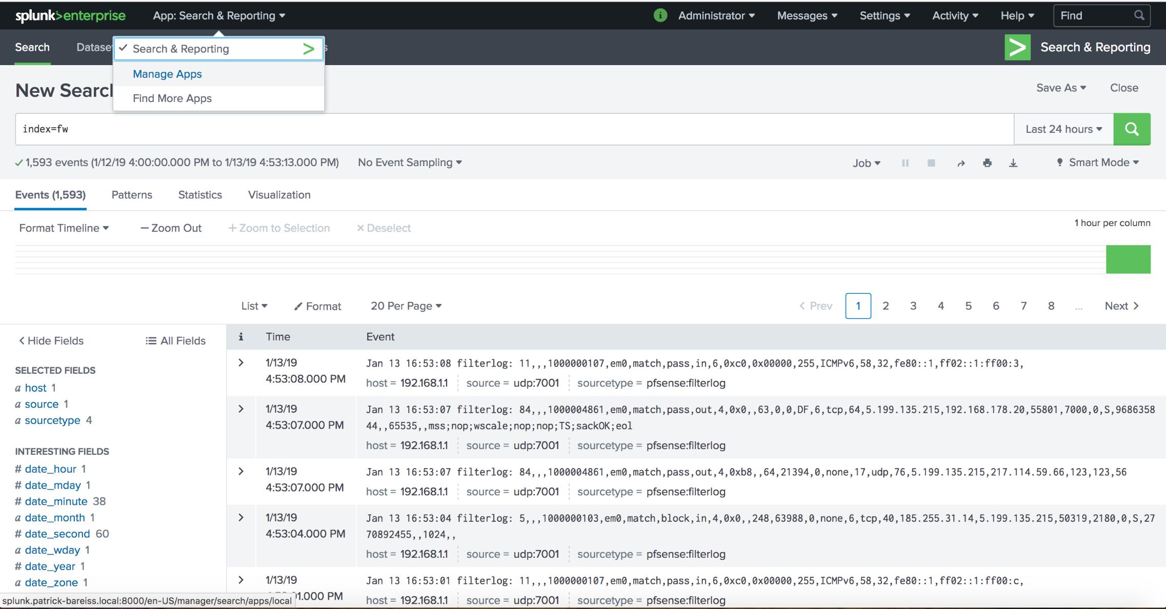 Monitoring of pfSense Logs with Splunk - Patrick Bareiss